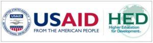 U S AID and H E D logo
