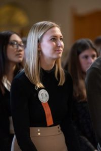 Katie Berrell at the Remembrance Ceremony in Hendricks Chapel