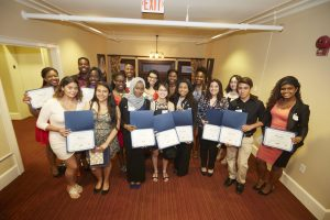 McNair scholars at a university reception