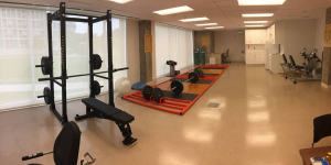 inside of the exercise prescription lab