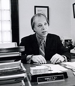 Don Ely in his office in the 1970s