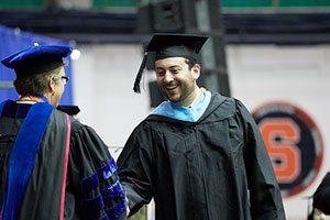Master's student at graduation