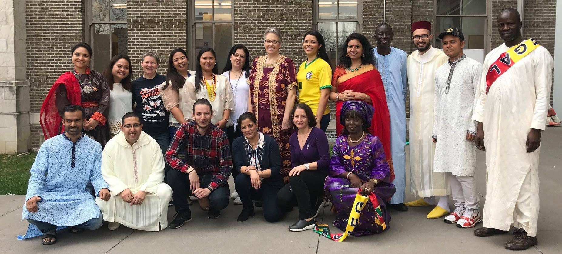 Fulbright DAI teachers and Joanna Masingila after their cultural presentations to the School of Education