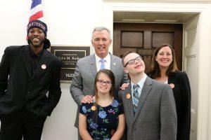 Cleo Hamilton, Rep John Katko, Gabby Iannotti, Ian Coe, and Prof Beth Myers at Katko's office in Washington D C