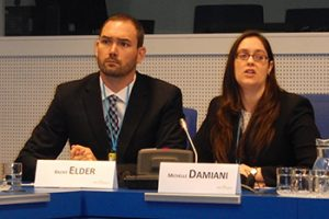 Brent Elder and Michelle Damiani at the UN in Vienna