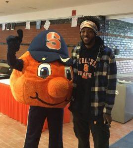 Cleo Hamilton with Otto the Orange