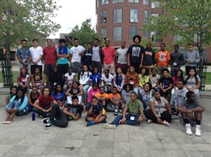 Participants in the NSBE Jr program