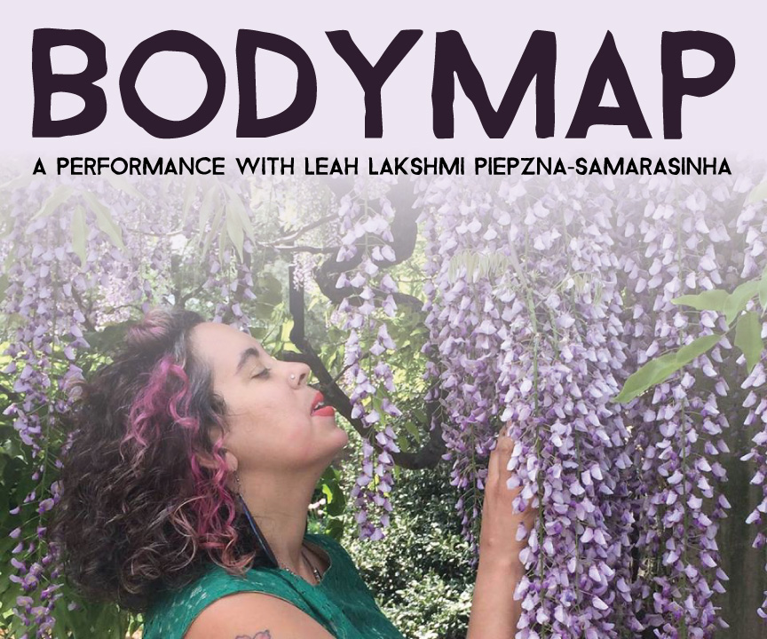 Leah under a lavender tree