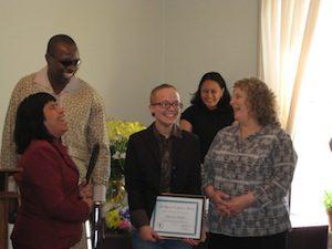 Maryann Barker accepts her award
