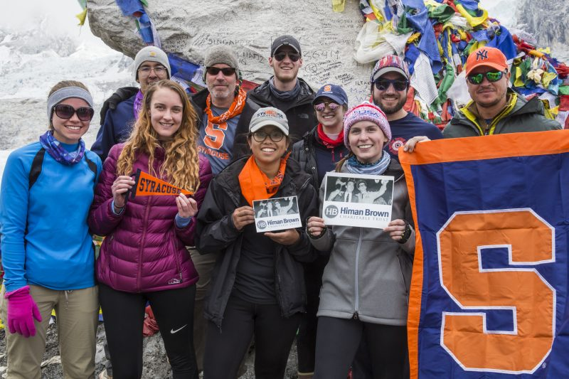 Himan Brown fellows at Everest base camp