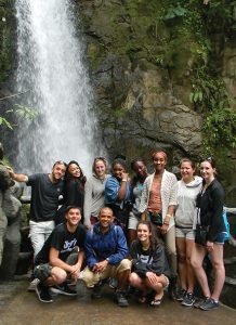 Students studying abroad in costa rica