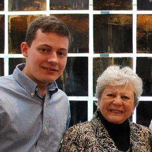 Klukojc with Holocaust survivor Dr. Anna Steinberger