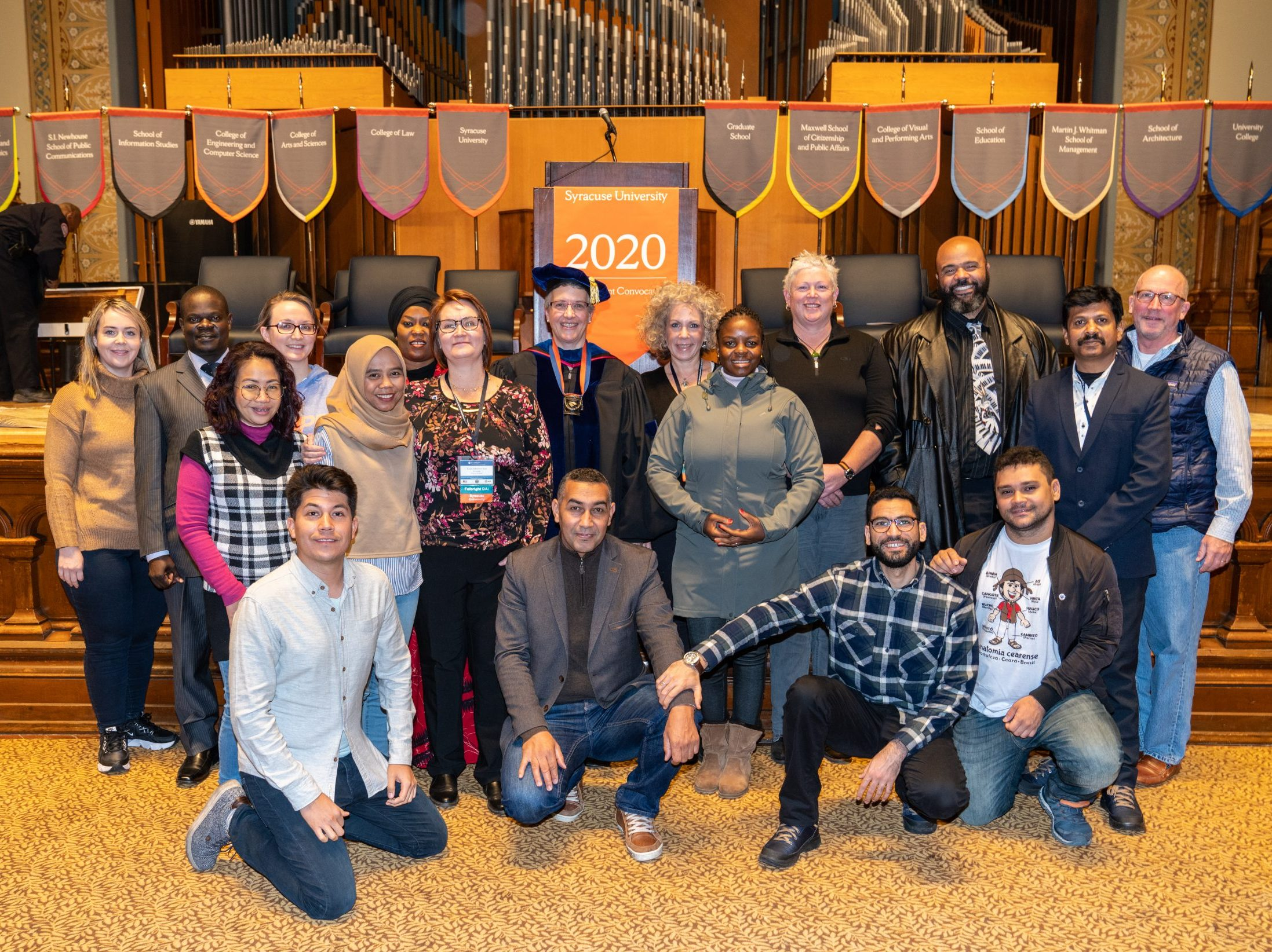 2020 Fulbright scholars at 2020 Winter Welcome