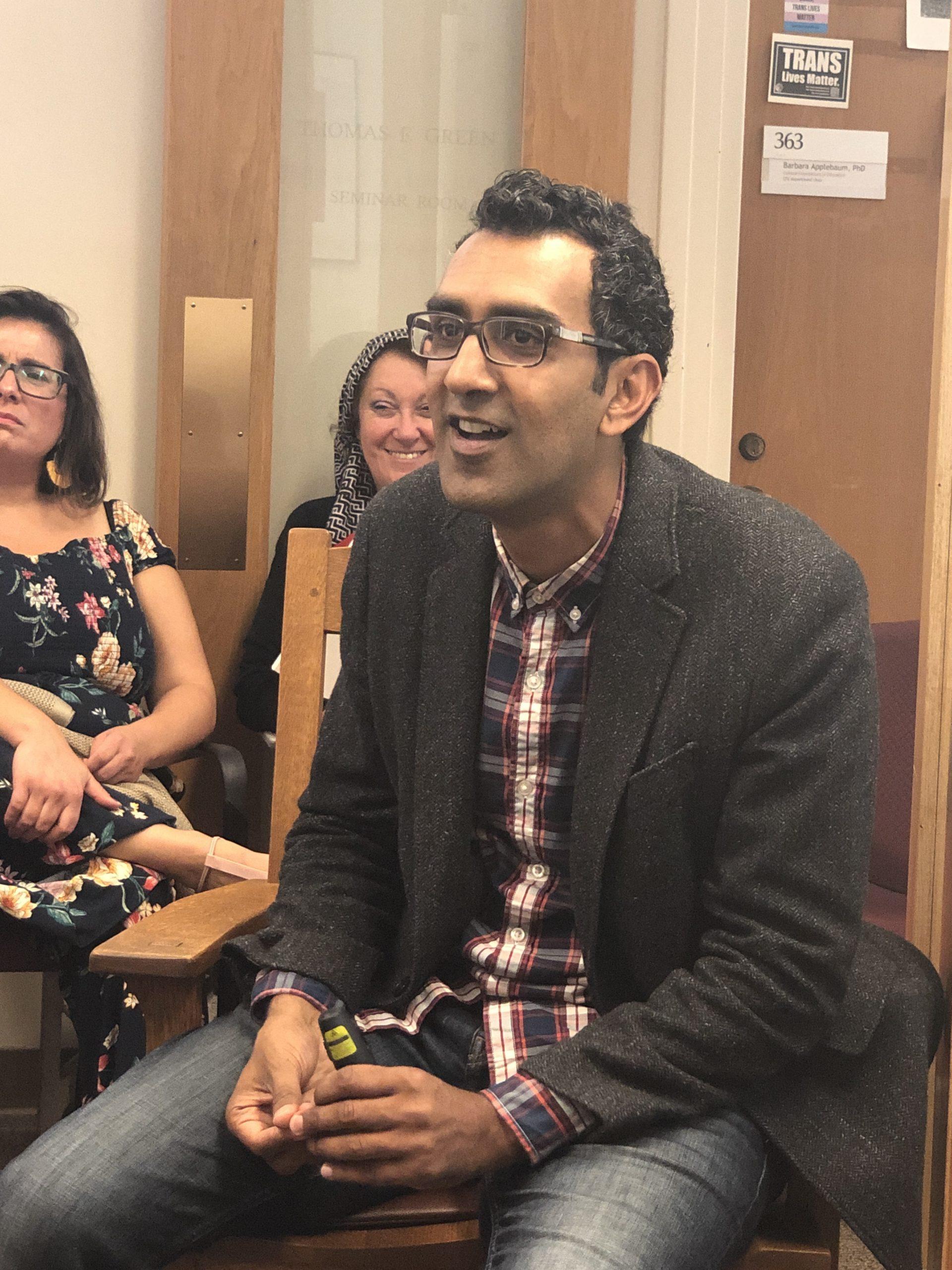 Khuram Hussain speaks at the CFE colloquia