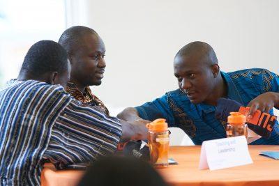Garmondyu Whorway with a new international student mentee