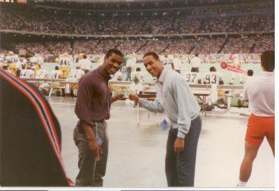 Jeff Mangram and Don McPherson as football teammates at Syracuse