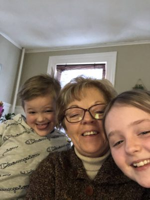 Curcio with her grandchildren