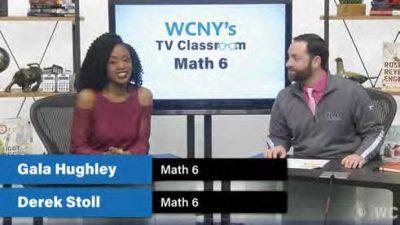 Gala Hughley and fellow teacher Derek Stoll present a less on tv classroom