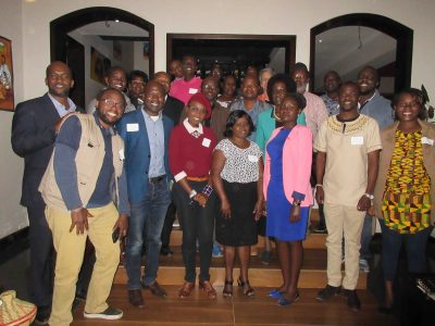 students, alumni, and faculty at a syracuse university get together in kenya