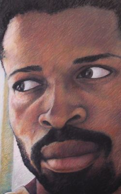 'skin' self portrait by james rolling