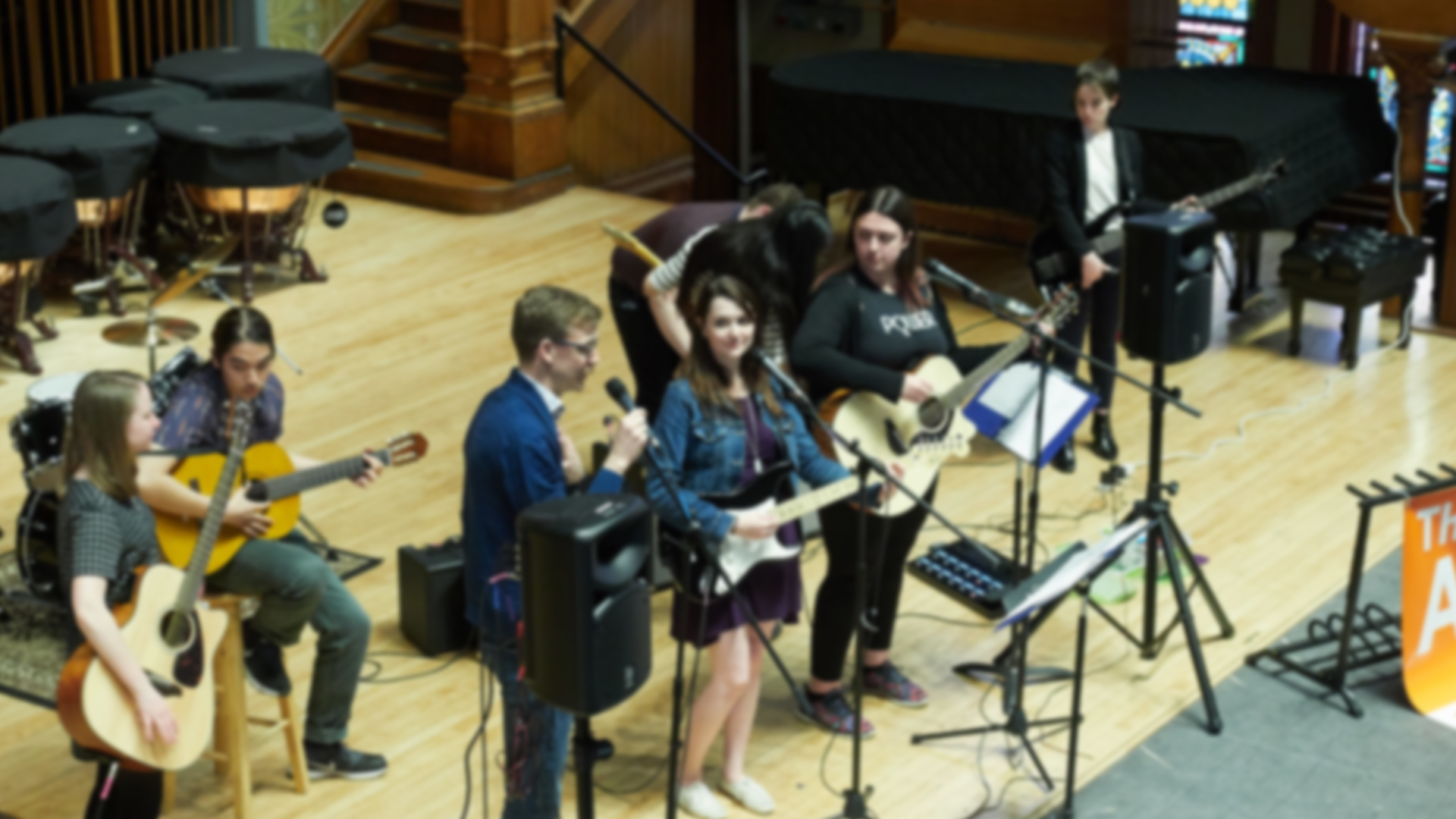 concert inside of crouse college
