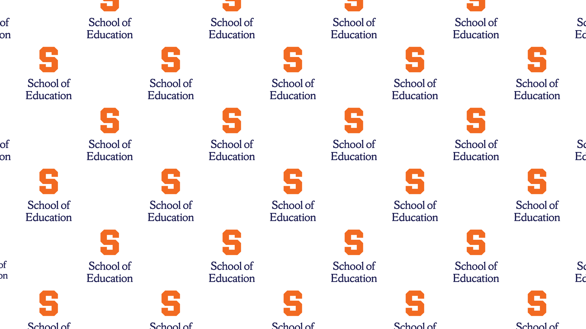 repeated school of education logo on a white background