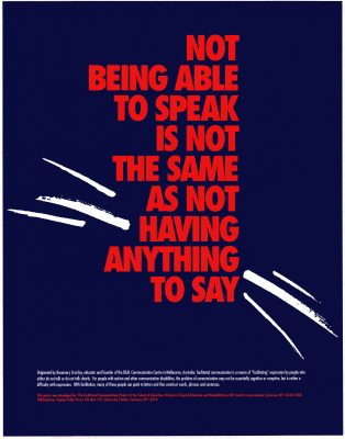 poster: not being able to speak is not the same as not having anything to say
